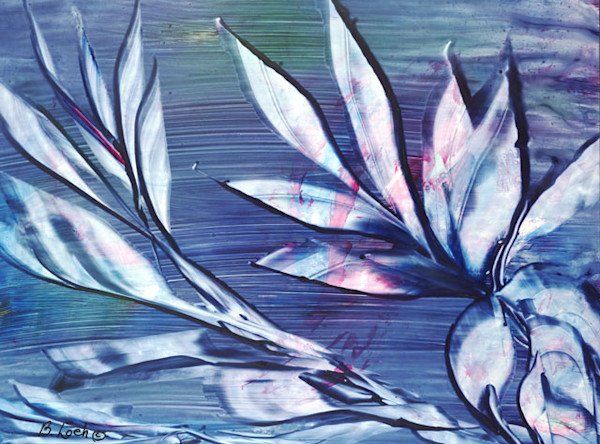 Lotus print by Bonnie Loeh.