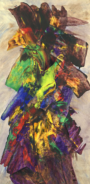 Totem print by Bonnie Loeh.