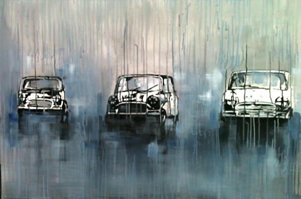 Minis racing in the rain