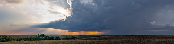Storm Over the Kansas Flint Hills - color