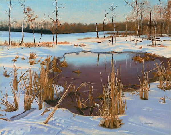 The Art of Raymond Wattenhofer Oil Painting Spring Melt