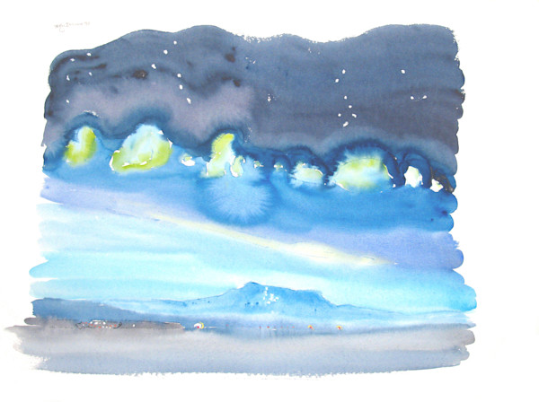 Night Sky over Comox Glacier