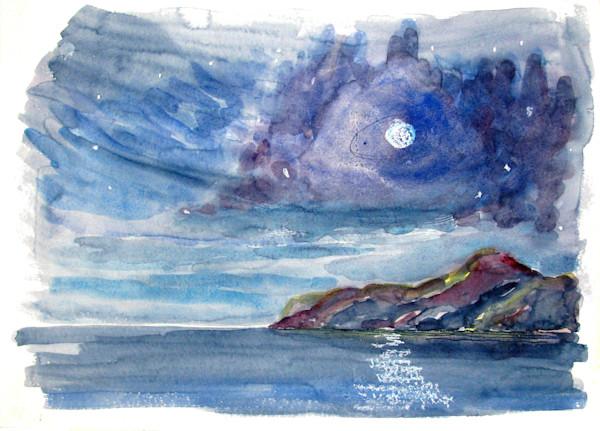Moon Over Texada Island