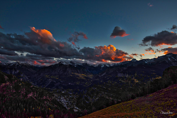 Markus Van Meter's Ouray Collection-Fall Sky Over Ouray