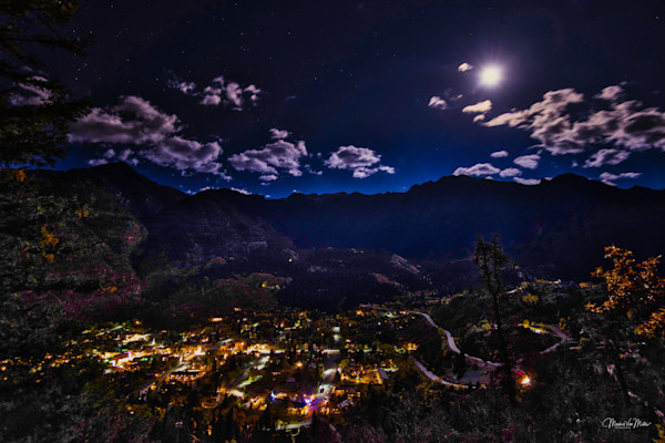 Markus Van Meter's Ouray Collection-Harvest Moon Over Ouray