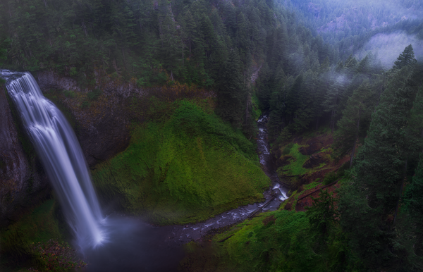 Alleviation Falls - Fine Art Photograph of Salt Creek Falls