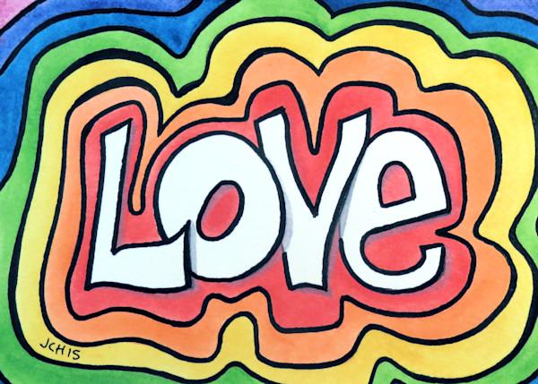 Rainbow Love Art For Sale