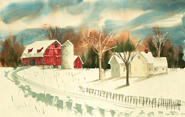 Homestead print by Gayle Brunner.
