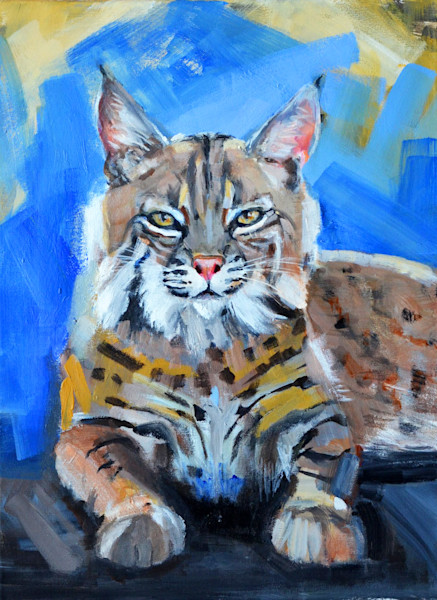 Wildlife Bobcat Painting | Tucson Gallery | Lisa's Wildcat