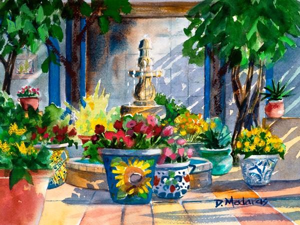 Courtyard Splendor | Southwest Art | Tucson Art Gallery