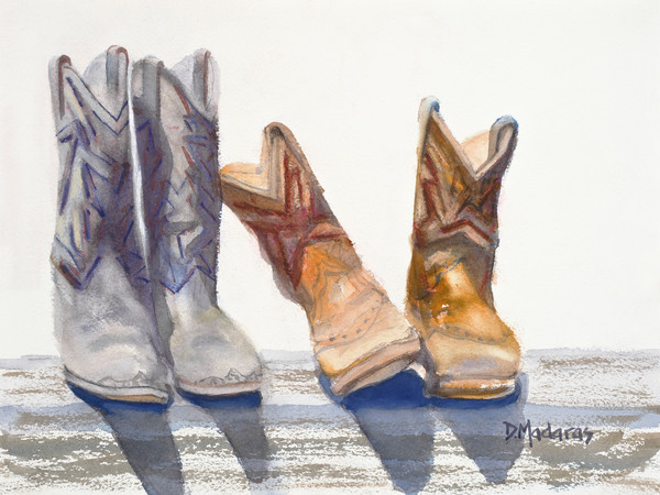 Cowboy Boots Painting | Southwest Art | Lean on Me