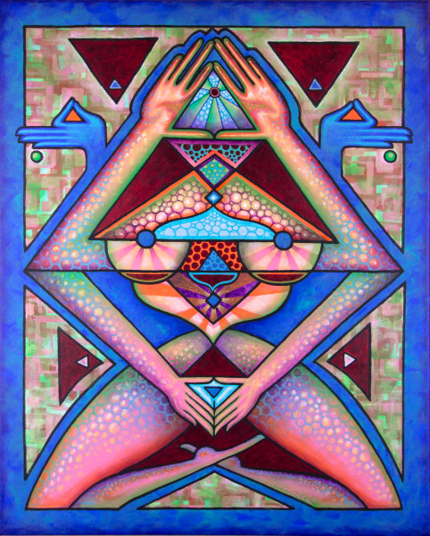 symmetrical goddess art creation