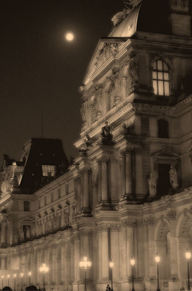 Paris in the moonlight by Chris Dabagian