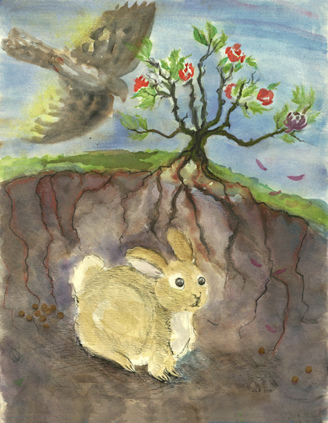 Life in Bunnyville print by Judith Spielmacher.