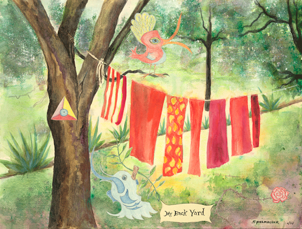 My backyard print by Judith Spielmacher.