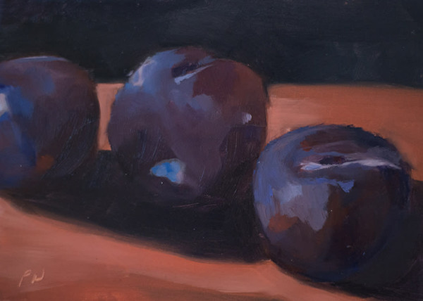 Plums Painting by Paul William | Fine Art for Sale