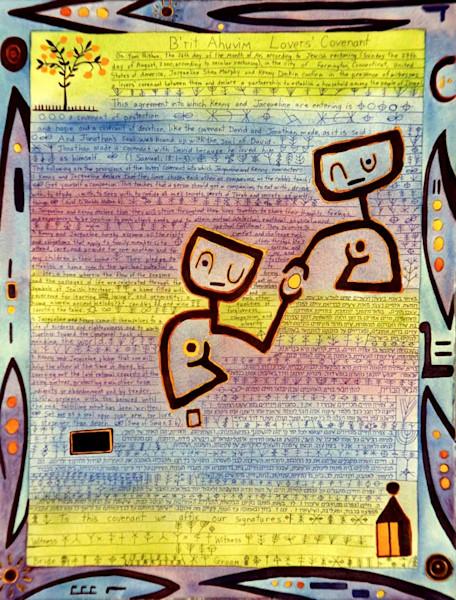 Paul Klee Handmade Ketubah