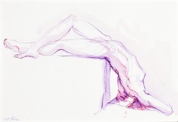 Purple Nude Figure Reclining by Michelle Arnold Paine