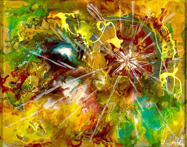 Genesis abstract art, resin art