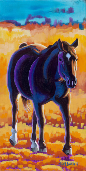 Colorful and unique painting of a horse for sale as art prints.