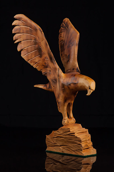 Eagle with Fish, in Alder