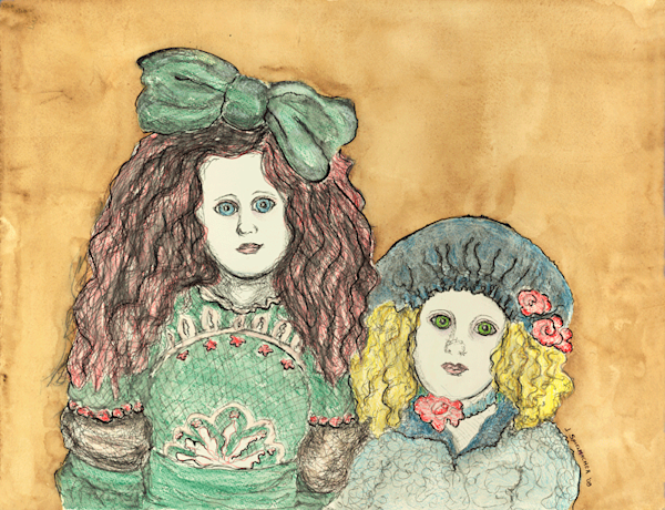 Sisters print by Judith Spielmacher.