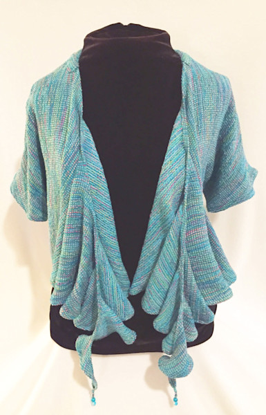 SandyCahill's handwoven wearable art jackets,shawls&scarves
