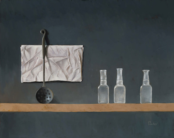 Three Bottles with Ladle