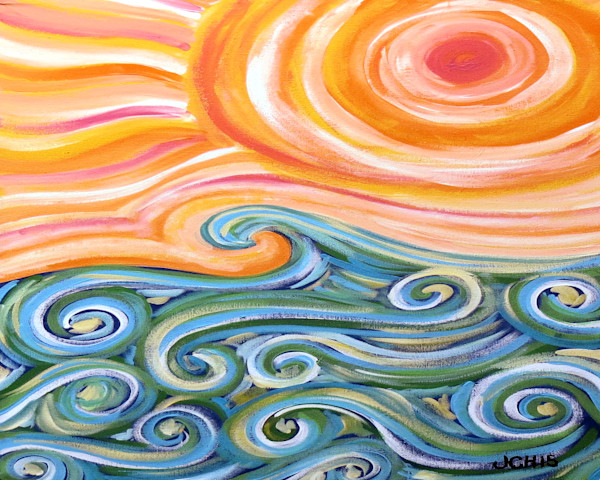Summer Waves Horizontal Art For Sale