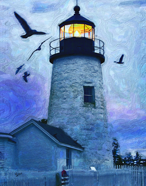 """Pemaquid Point Lighthouse Art for Sale"""