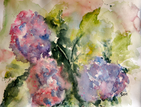 """Hydrangea in Bloom Art for Sale"""