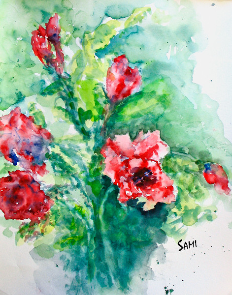 Watercolor Paintings & Photography of Flowers Page