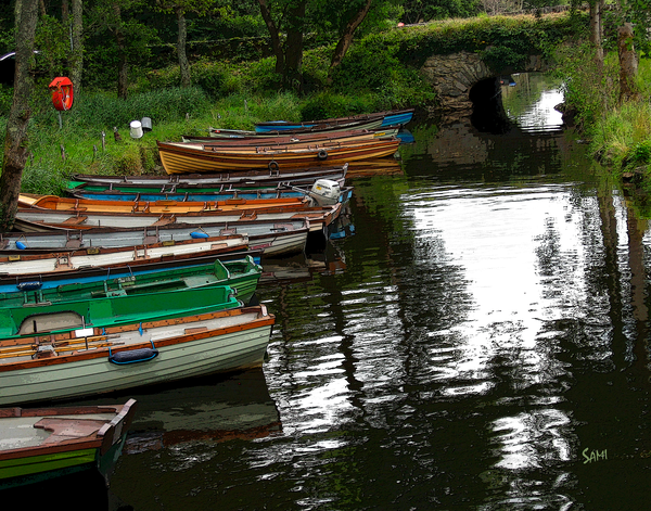 """Ross Castle Rowboats Art for Sale"""