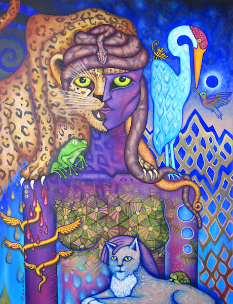 metaphysical totem art woman