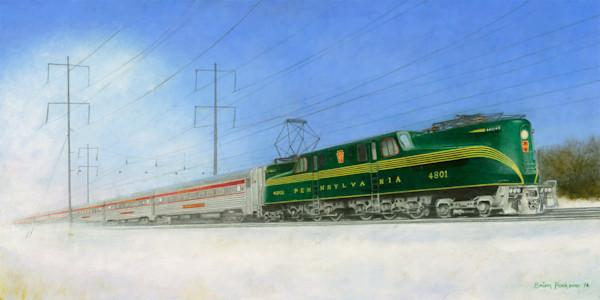 GG1 at 80 plus train NE Corridor USA