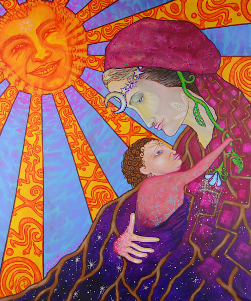 mary mother art for family and birth