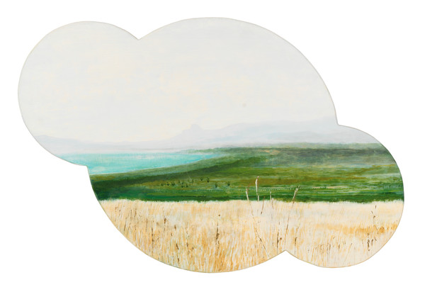 Shaped Sicilian landscape painting-art, Sicily landscape painting-art