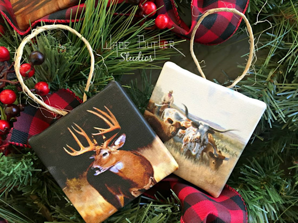 "3x3"" Canvas Ornaments"
