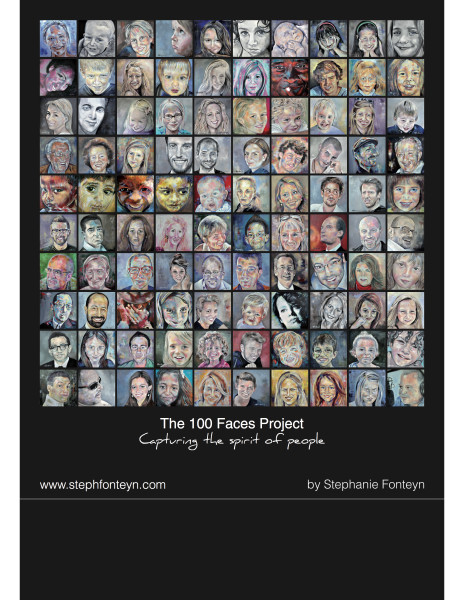 The 100 Faces Project by Steph Fonteyn