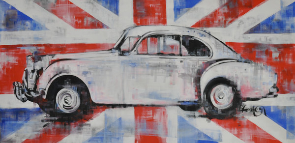 Bentley Fine Art Print by Steph Fonteyn