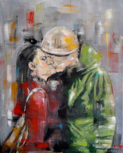 Urban Kiss Print by Steph Fonteyn