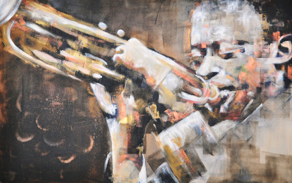Miles Davis Original Painting by Steph Fonteyn