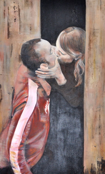 Stolen Kiss Fine Art Print by Steph Fonteyn
