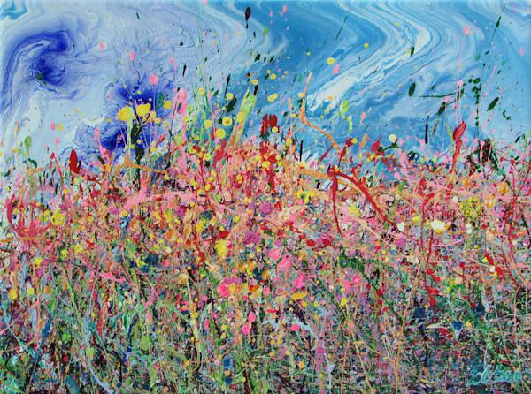 Jigging Chuparosa/Abstract Wildflowers Art/En Chuen Soo
