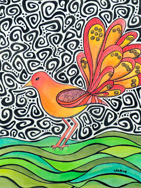 Groovy Bird Art For Sale