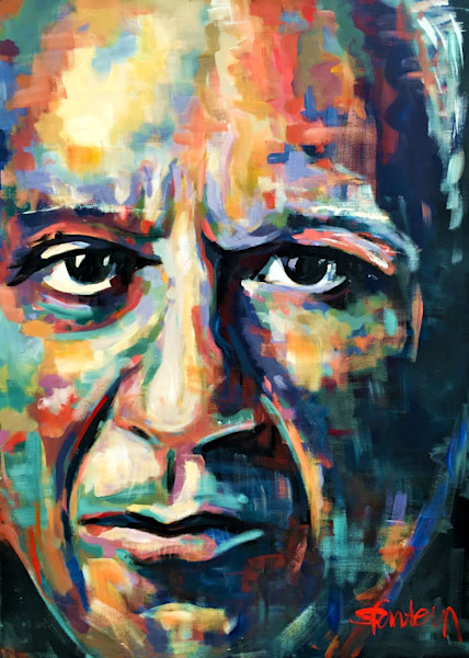 Pablo Picasso Original Acrylic Portrait by Steph Fonteyn