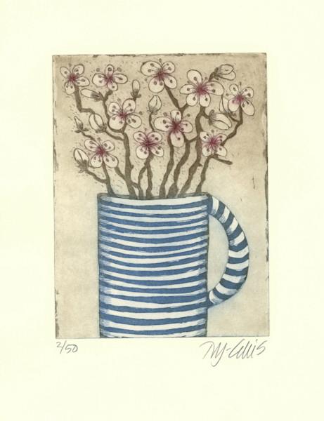 Petals and Stripes - aquatint etching