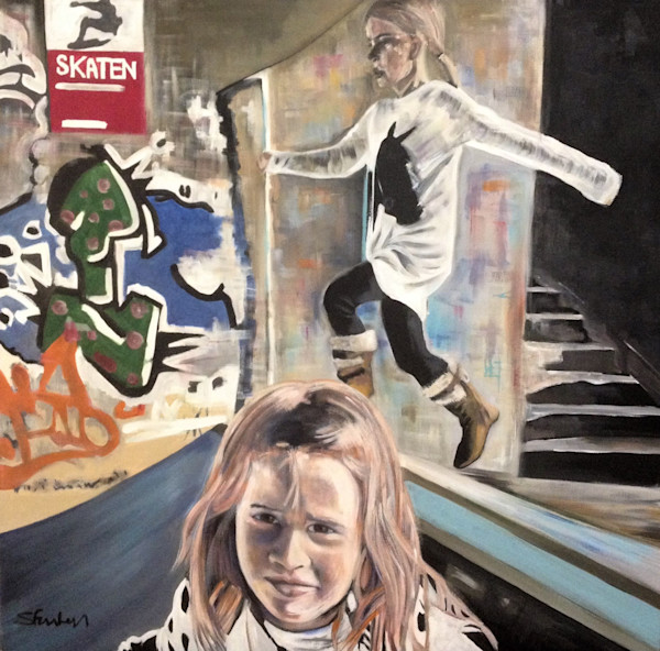 Skate Park Original Painting by Steph Fonteyn