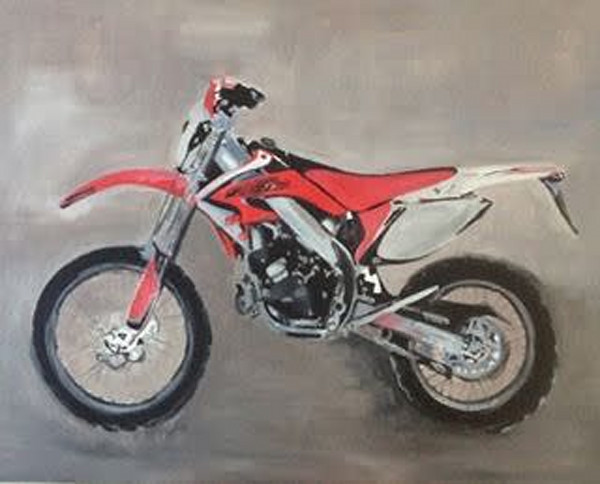 Commission a motorbike painting by Steph Fonteyn