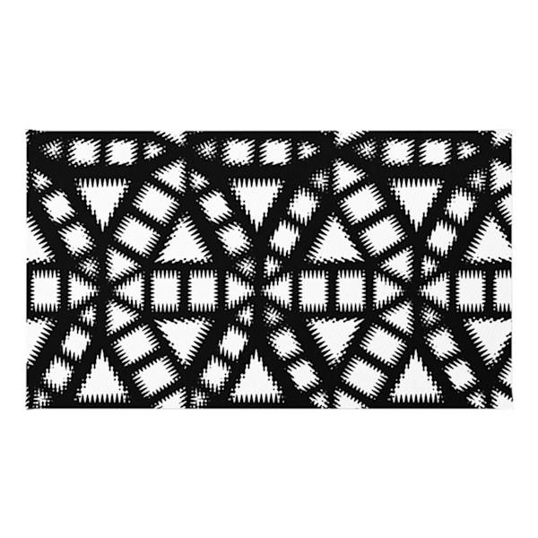 Black and White Pinwheel Pattern Throw Rugs